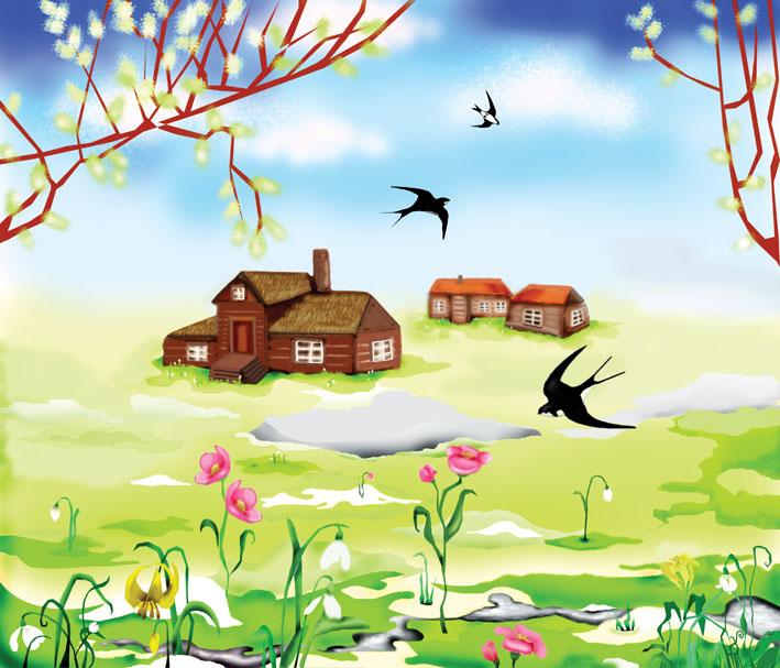 Картинки на тему Весна для детского сада - самые красивые и прикольные 3