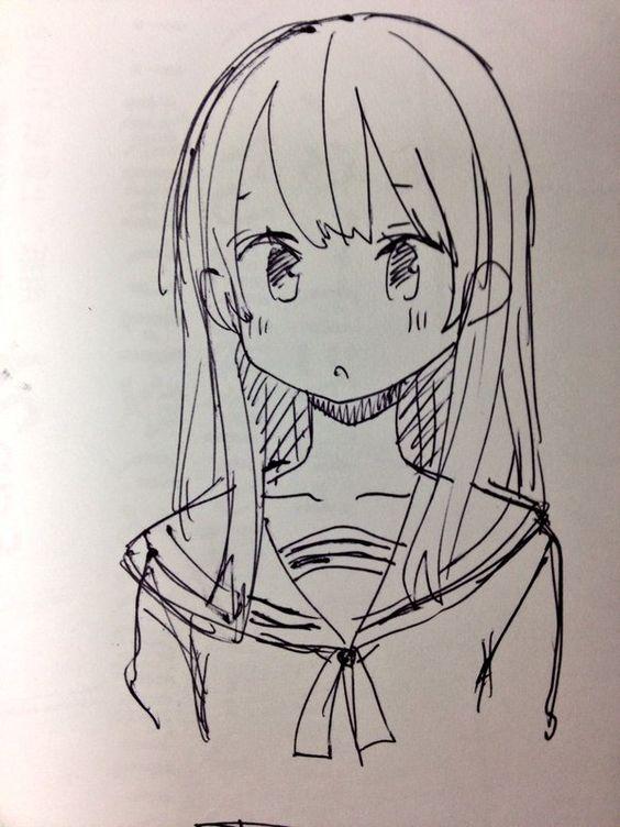 Красивые аниме картинки для срисовки - интересная коллекция №3 5