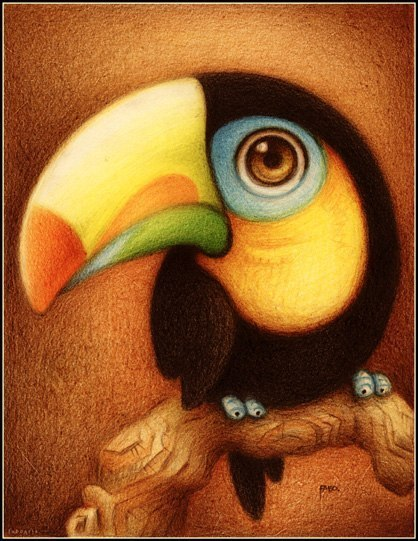 Красивые и прикольные нарисованные картинки животных - лучшая подборка 11