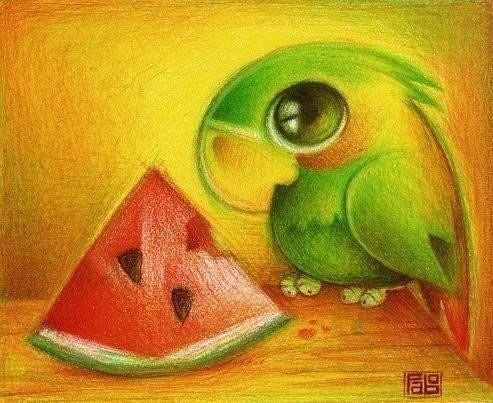 Красивые и прикольные нарисованные картинки животных - лучшая подборка 18