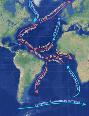 Где находится Атлантический океан Карта мира, точное расположение 2