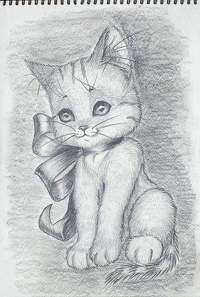 Картинки кошек и котят для срисовки - очень красивые и прикольные 2