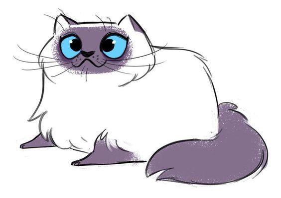 Картинки кошек и котят для срисовки - очень красивые и прикольные 7