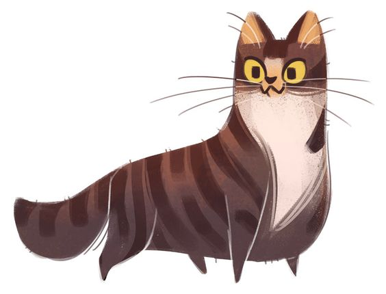 Картинки кошек и котят для срисовки - очень красивые и прикольные 8