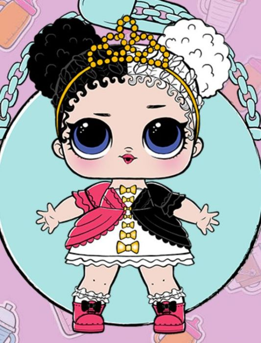 Картинки L.O.L. куклы для срисовки для девочек - скачать бесплатно 5