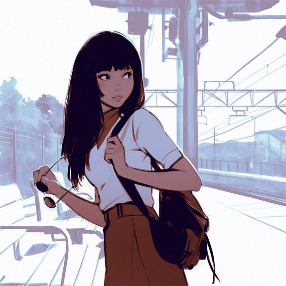Скачать картинки аниме девушки - очень прикольные и красивые 11