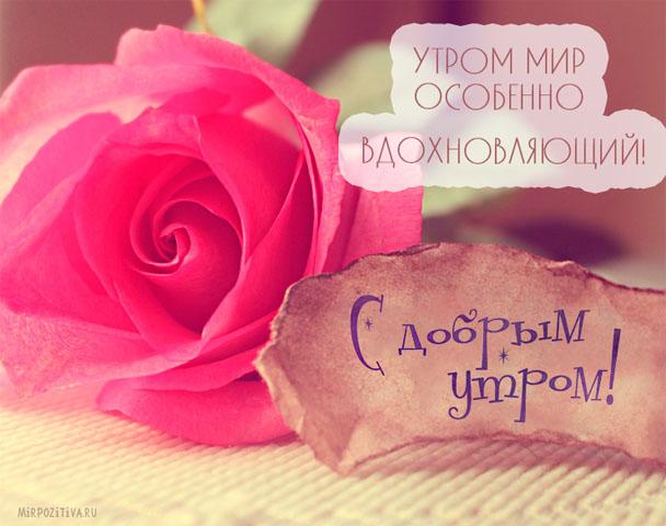 Доброе утро красивой женщине - картинки и открытки, очень приятные 6