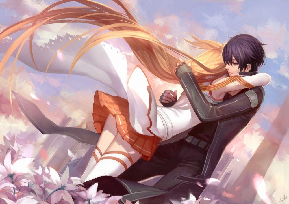 Картинки Асуна и Кирито из Мастера Меча Онлайн - очень красивые 7