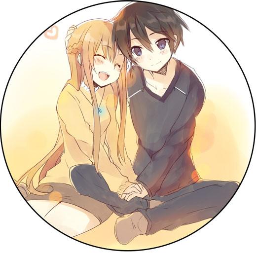 Картинки Асуна и Кирито из Мастера Меча Онлайн - очень красивые 8