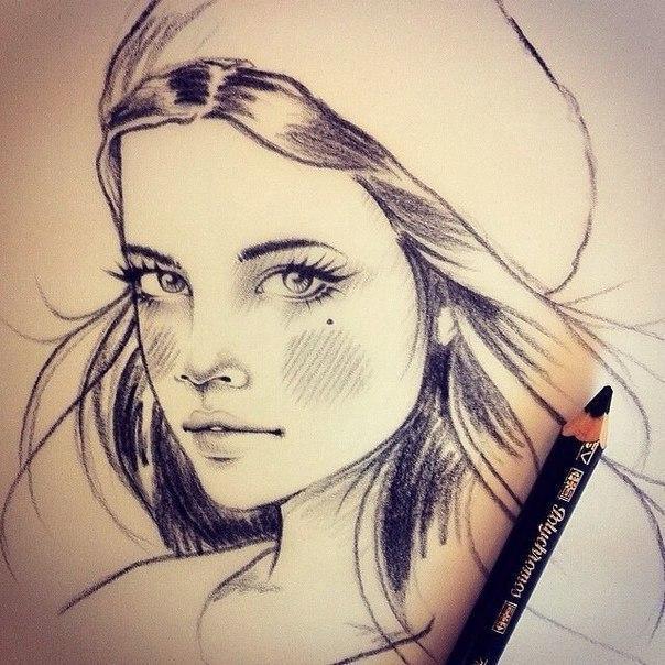 Картинки на аву для девушек нарисованные и рисунки - самые лучшие 2