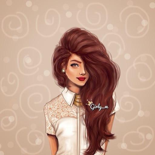 Гламурные рисованные аватарки для девушек в контакт (8)