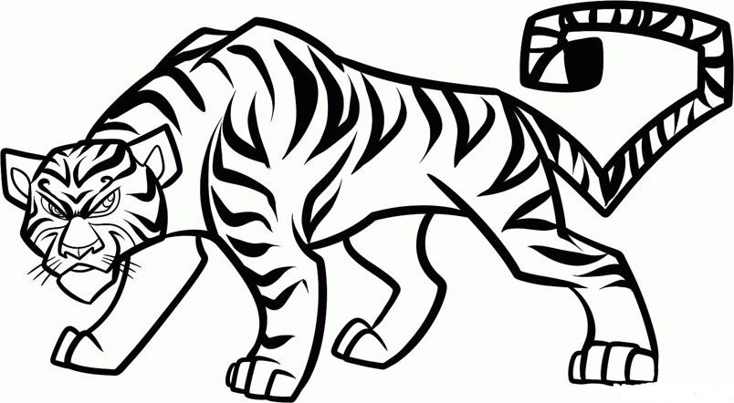 Картинки тигра для срисовки карандашом - красивые и прикольные 6
