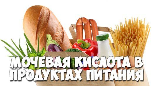 Мочевая кислота в продуктах питания - список продуктов 1