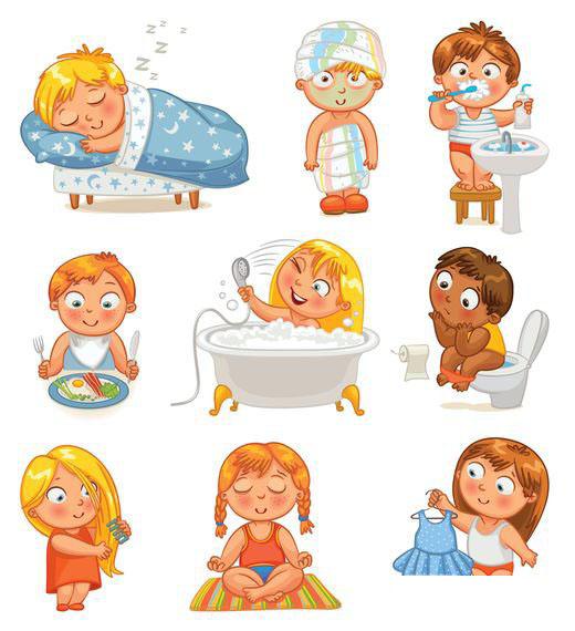 Режим дня - красивые картинки для детей для детского сада 14
