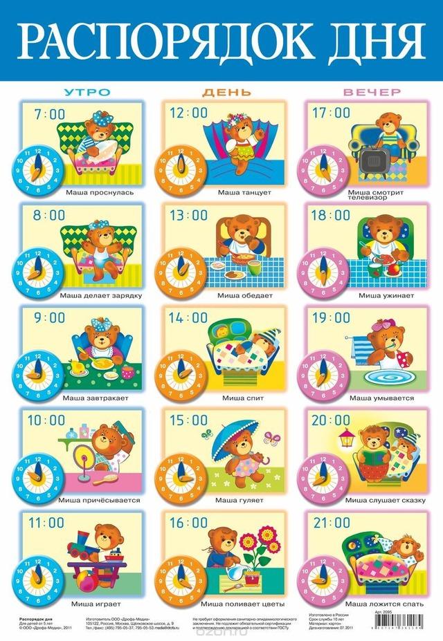 Режим дня - красивые картинки для детей для детского сада 5