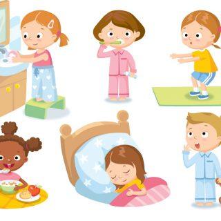 Режим дня - красивые картинки для детей для детского сада 6