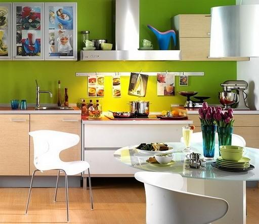 Сочетание цветов в дизайне кухни - основные правила и принципы 3