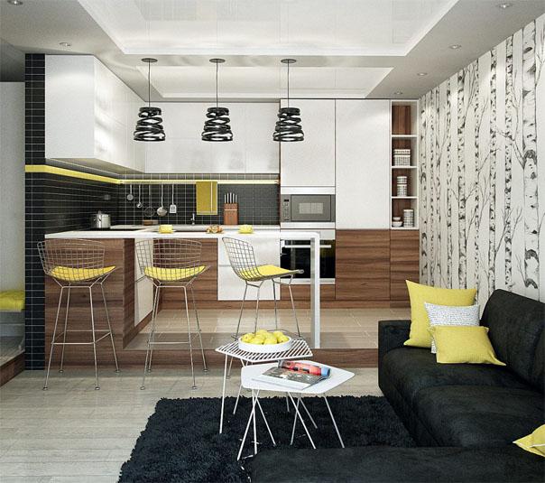 Сочетание цветов в дизайне кухни - основные правила и принципы 5