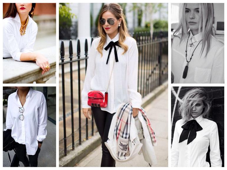С чем носить белую женскую рубашку. Стильные варианты с фото 3