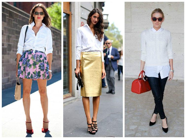 С чем носить белую женскую рубашку. Стильные варианты с фото 7