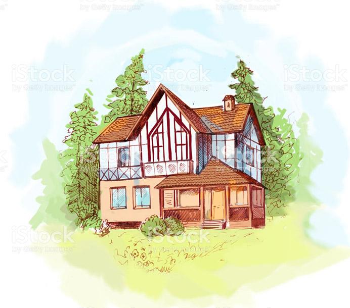 Домик и дом картинки нарисованные - красивые и прикольные 4