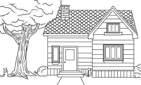 Домик и дом картинки нарисованные - красивые и прикольные 5