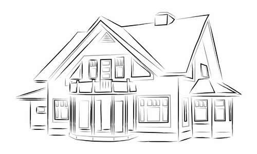 Домик и дом картинки нарисованные - красивые и прикольные 7