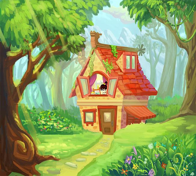 Дом, квартира, домик - красивые картинки для детей 10