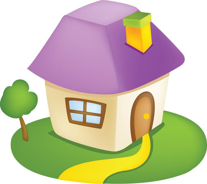 Дом, квартира, домик - красивые картинки для детей 5
