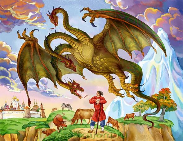 Змей Горыныч картинки для детей - прикольные и красивые 11