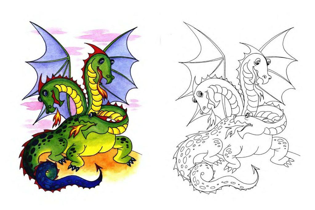 Змей Горыныч картинки для детей - прикольные и красивые 15