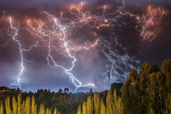 Извержение вулкана, землетрясения, лава - красивые снимки и фото 12