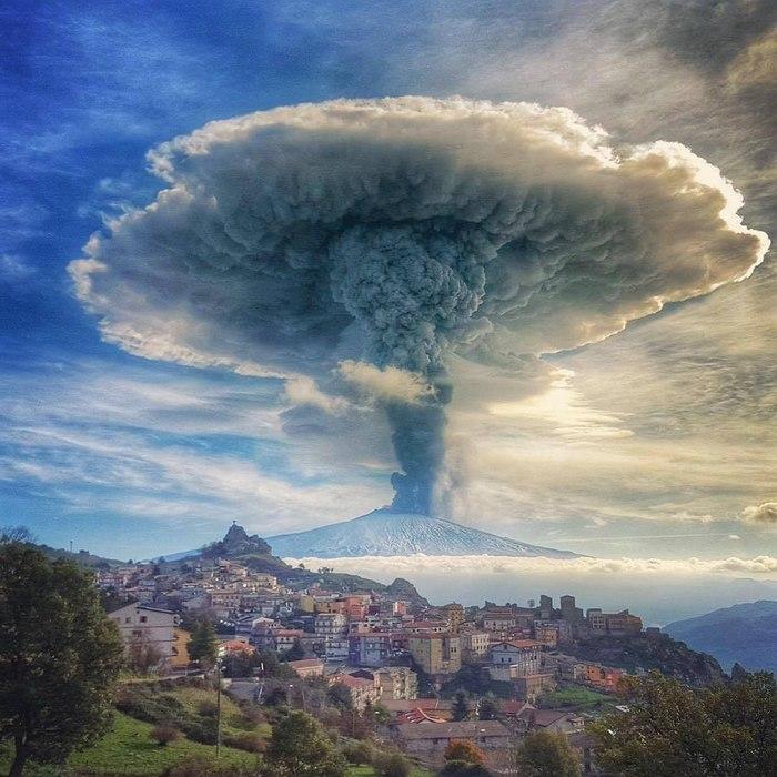Извержение вулкана, землетрясения, лава - красивые снимки и фото 3
