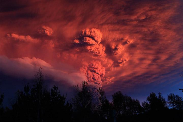 Извержение вулкана, землетрясения, лава - красивые снимки и фото 8