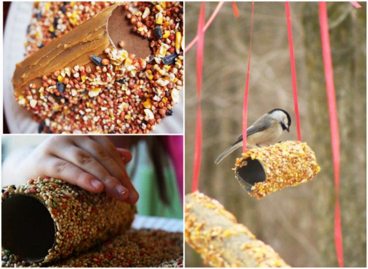 Как сделать кормушку для птиц своими руками - идеи из дерева, бутылки, коробок 3