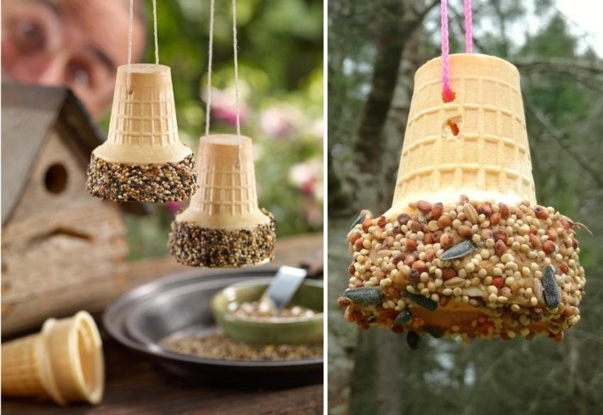 Как сделать кормушку для птиц своими руками - идеи из дерева, бутылки, коробок 4