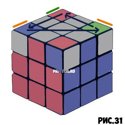 Как собрать Кубик Рубика 3х3 для начинающих - схема с фото, алгоритм 39