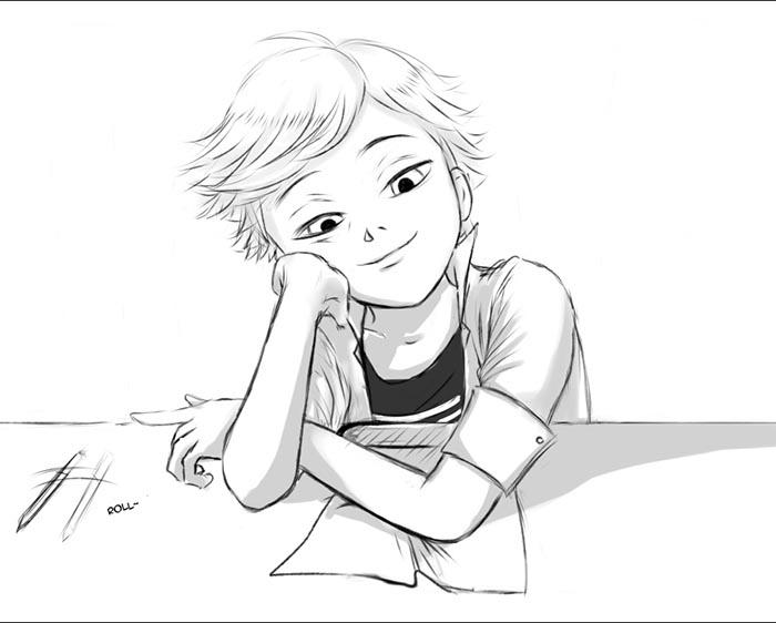 Картинки Леди Баг и Супер Кот для срисовки - подборка рисунков 22