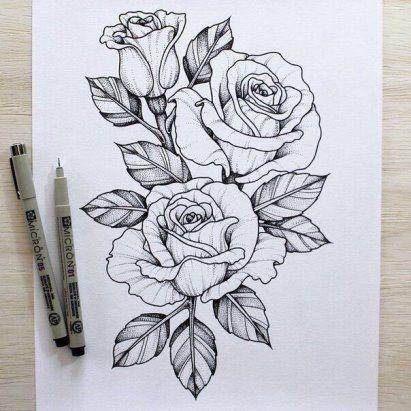 Картинки для срисовки цветы, цветочки - красивые и прикольные 1