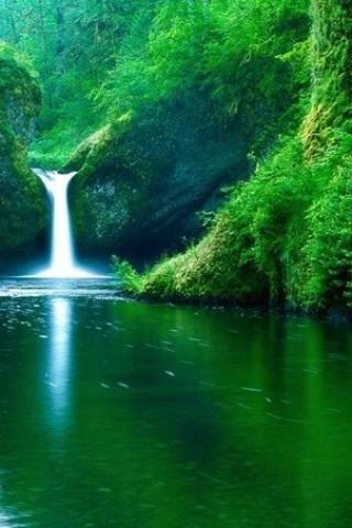 Картинки на телефон водопады и водопад - самые красивые 11