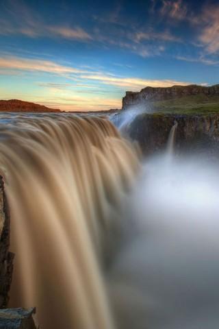 Картинки на телефон водопады и водопад - самые красивые 14