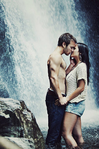 Картинки на телефон водопады и водопад - самые красивые 17