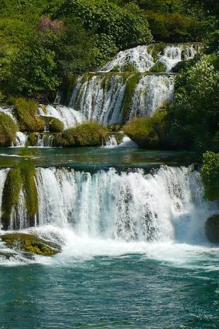 Картинки на телефон водопады и водопад - самые красивые 6
