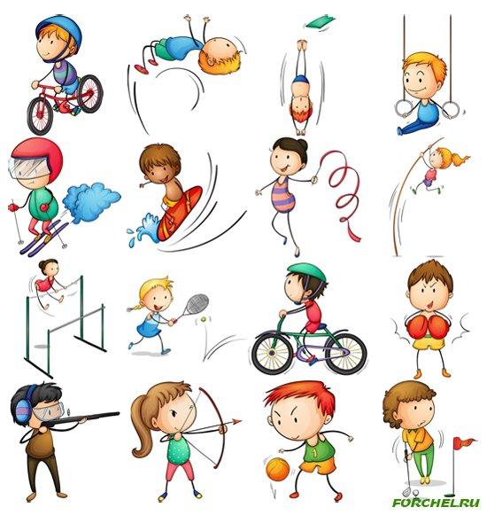 Красивые картинки для детей на тему Виды спорта - лучшая подборка 15