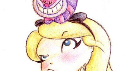 Красивые картинки для срисовки Алиса в Стране чудес - подборка 2
