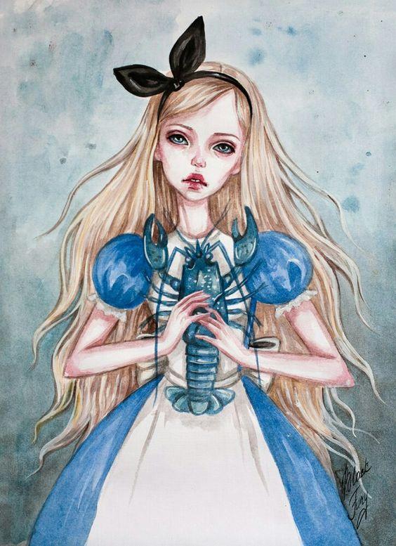 Красивые картинки для срисовки Алиса в Стране чудес - подборка 7