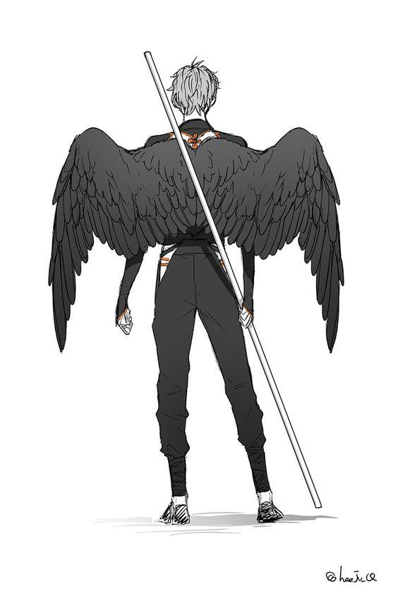 Красивые картинки на аву человек или ангел с крыльями - сборка 17