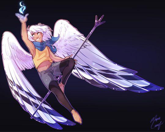 Красивые картинки на аву человек или ангел с крыльями - сборка 3