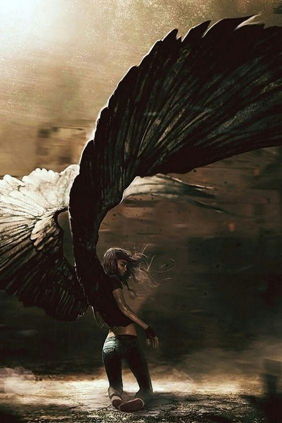 Красивые картинки на аву человек или ангел с крыльями - сборка 7