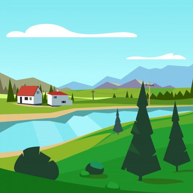Красивые картинки реки для детей - увлекательная сборка 6
